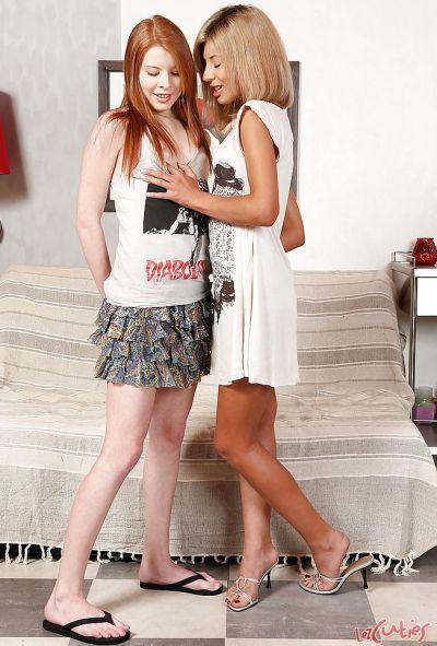 Фото №2 Две молодые рыжие лесбиянки полизали друг другу киски